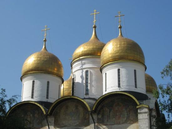 มอสโก, รัสเซีย: Domes in the Kremlin