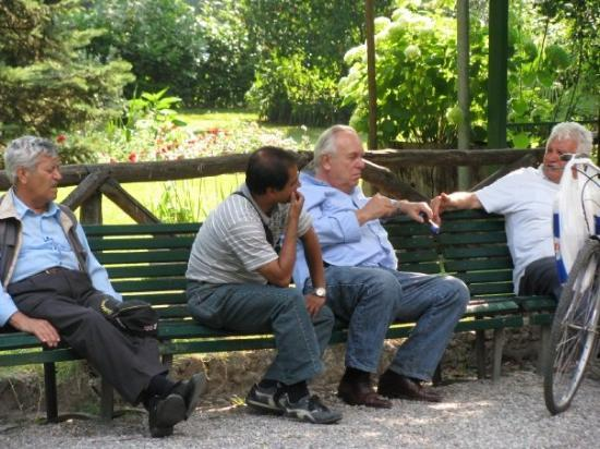 มิลาน, อิตาลี: Milan.  Giardini Pubblici.  This is the way to retire.  Just hanging out with the boys in the pa