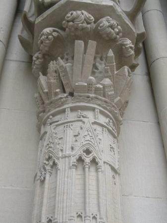 Cathedral Church of Saint John the Divine: An eerie column in front of the Cathedral of Saint John the Divine.