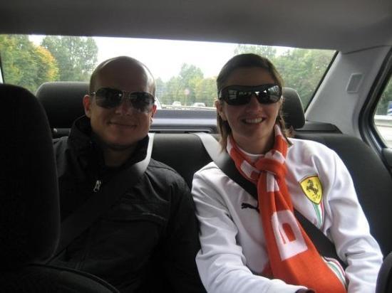 เบรเมิน, เยอรมนี: Rick and I in the car on the Autobahn