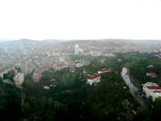 อังการา, ตุรกี: bütün Ankara'nın manzarası görünür