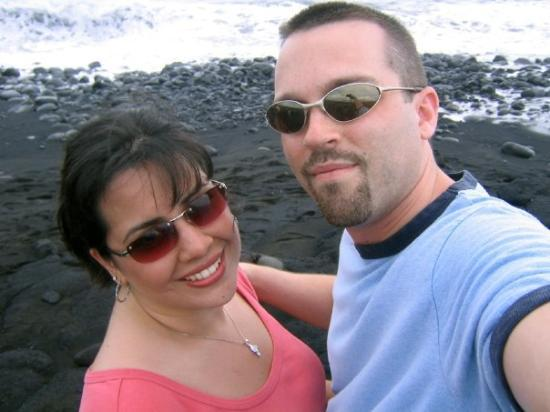 Hilo, ฮาวาย: At Black Sand Beach on the Big Island