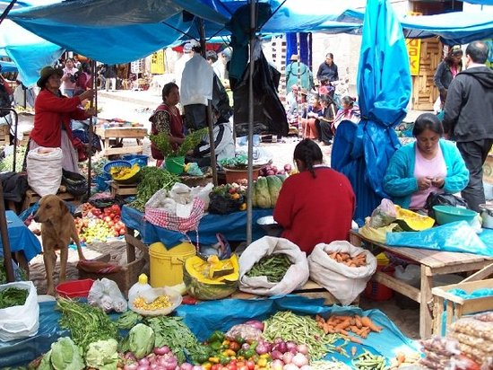 Pisac Market ภาพถ่าย