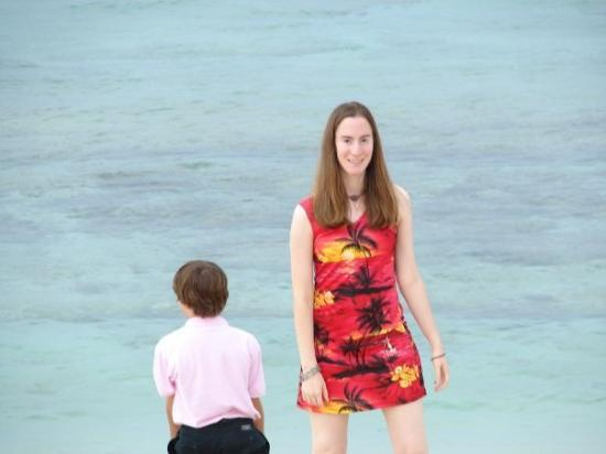 Cozumel (เกาะโกซูเมล), เม็กซิโก: Me in my dress on Beach in Cozumel Mexico the day of wedding, or at the Wedding.. the Wedding Cr