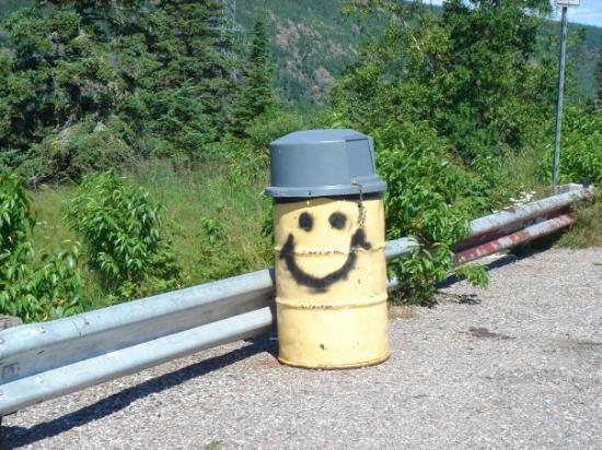 ทันเดอร์เบย์, แคนาดา: Even the trash cans are happy in Canada.