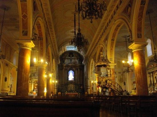ซันเตียโก, ชิลี: Santiago de Chile - L'église de la Merced de l'intérieur