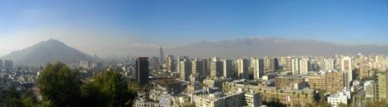 ซันเตียโก, ชิลี: Santiago de Chile - Vue depuis Santa Lucia