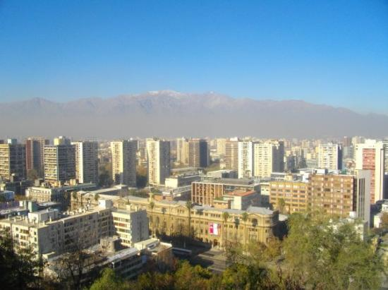 ซันเตียโก, ชิลี: Santiago de Chile - Vue sur la Cordillère des Andes depuis Santa Lucia