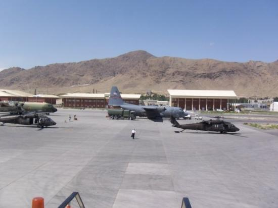Kabul Airport...to the north..