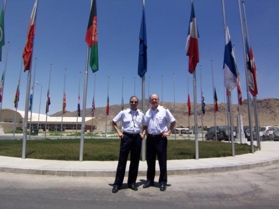 Me and co-pilot Steve, Kabul