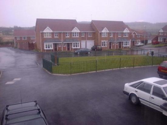 Newcastle-under-Lyme, UK: Området vi bodde på i England