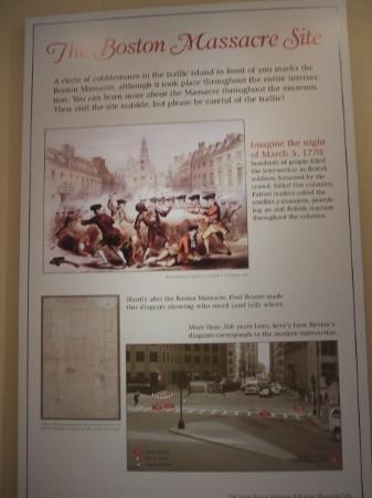 บอสตัน, แมสซาชูเซตส์: How the Boston Massacre was set up at the site
