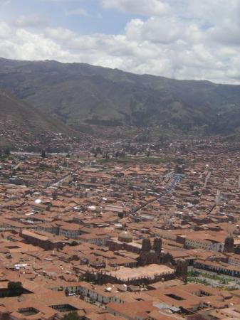 กุสโก, เปรู: View from mountain of Cusco