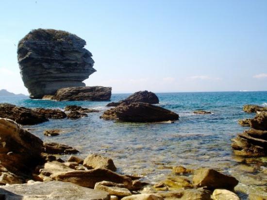 Corsica, France: under the cliffs