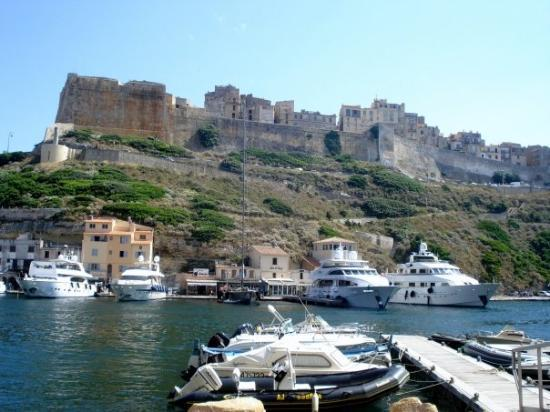 Corsica, ฝรั่งเศส: the marina beneath the citadel