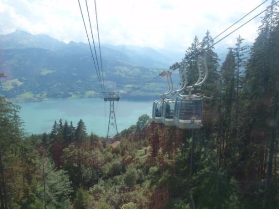 ทัน, สวิตเซอร์แลนด์: Talfahrt mit der 1. Sektion, Blick aus der Kabine,