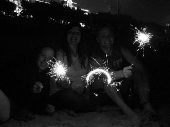 โซล, เกาหลีใต้: My best Army friend, Maria, and her husband Tristan, and I at the beach in S. Korea to celebrate