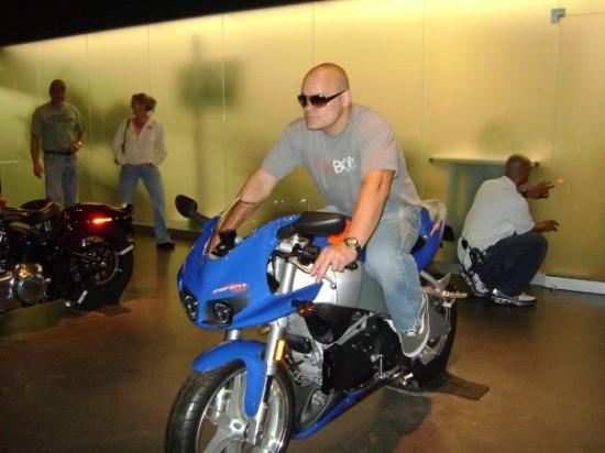 Harley-Davidson Museum: This is what I would look like if I rode a Buell..