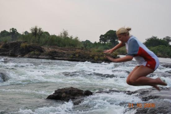 Mosi-oa-Tunya / Victoria Falls National Park: JUMPING INTO DEVILS POOL VICTORIA FALLS ZAMBIA.AND YES I WAS RATHER SCARED