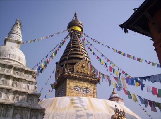 กาฐมาณฑุ, เนปาล: A mais antiga Stupa do Nepal, perto de Katmandou