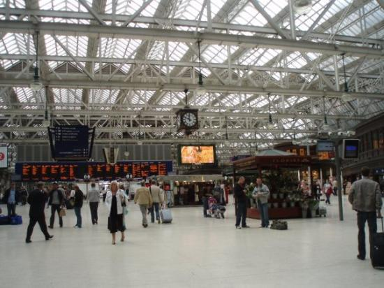 กลาสโกว์, UK: The Glasgow central station