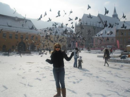 Brasov, Romania.piata sfatului