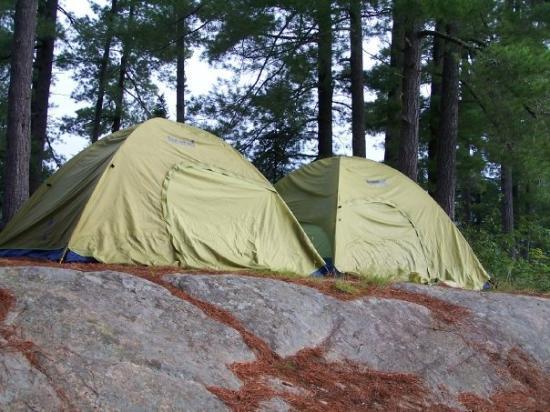 แอลกอนควินพาร์ค, แคนาดา: The inhabited girls tent.