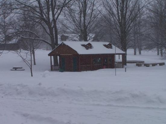 Lake Ann, มิชิแกน: It's snowing!