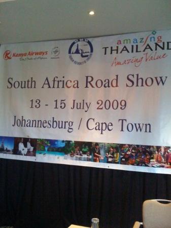 โจฮันเนสเบิร์ก, แอฟริกาใต้: Road Show Radisson