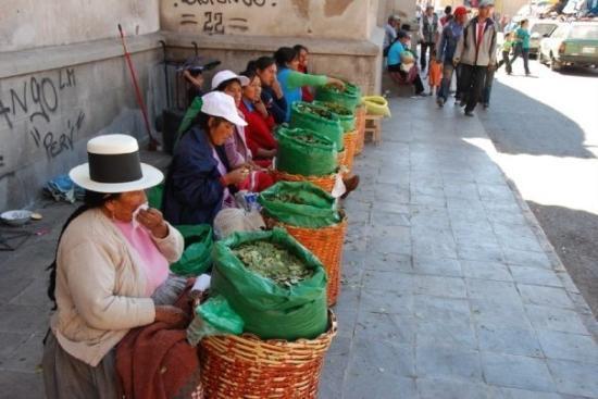 Ayacucho, เปรู: Feuilles de coca..