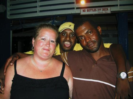 Grand Bahama Island: lol Mom, Rico, and Neil doing his head to the side!!