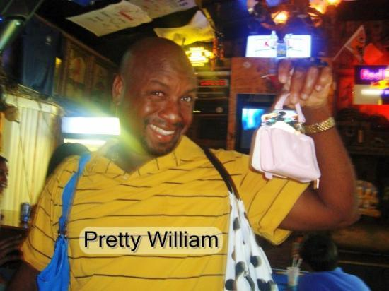Grand Bahama Island: William just had to hold all the purses!!