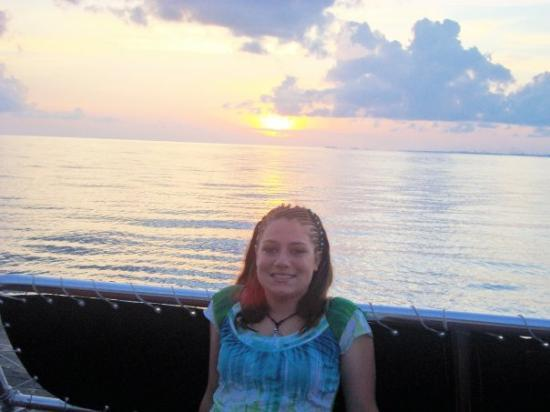 Grand Bahama Island: Katie with the Bahamian sunset!!! <3