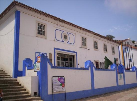 Obidos Village: Many of the buildings in Obidos are whitewashed and then highlighted with vibrant blue or yellow