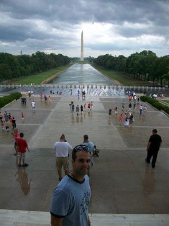 Lincoln Memorial: MORE RAIN !!!  Ughh !!