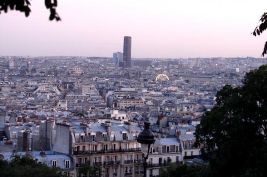 Paris Authentic: Ago 09: Vista de París desde La Basílica del Sacré-Cœur.