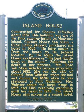 Island House Hotel: Hotel history