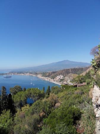 ทาโอร์มินา, อิตาลี: het zicht vanuit ons Belle Epoque hotel