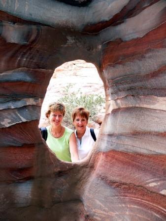 เปตรา/วาดีมูซา, จอร์แดน: through cave window