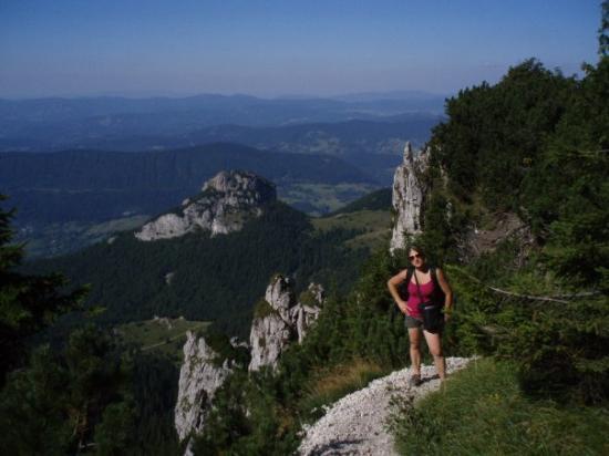 Terchova, สโลวะเกีย: vyhlad z Velkeho Rozsutca na Maly Rozsutec