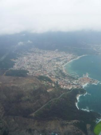 Budva from the plane