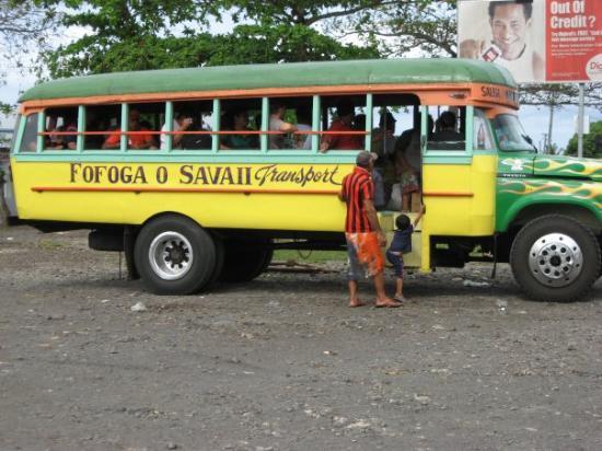 Savai'i, ซามัว: Local buses