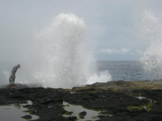 Savai'i, ซามัว: Blow holes in savaii