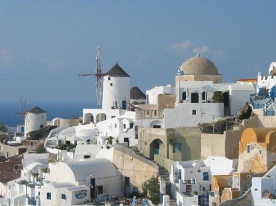 เอีย, กรีซ: Oia, Santorini, Greece (Oct 06).