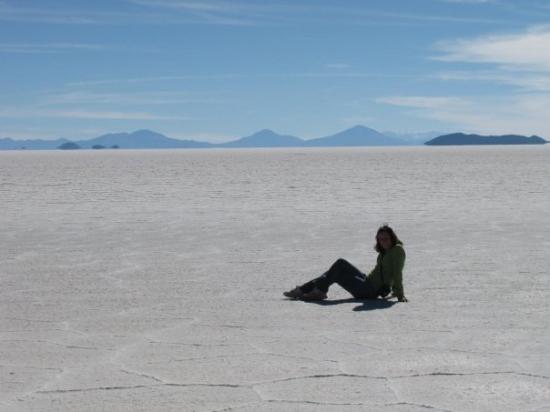 Uyuni, โบลิเวีย: Perdue dans l'immensité blanche !
