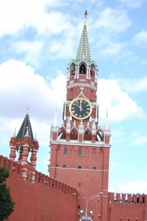 มอสโก, รัสเซีย: Clock Tower on the Kremlin