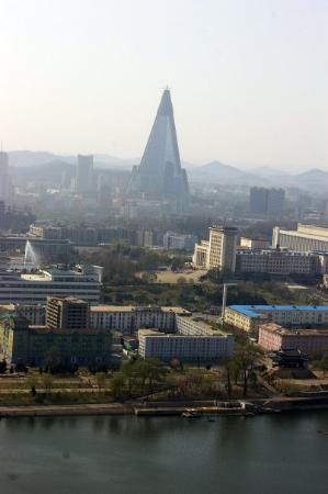 Pyongyang, เกาหลีเหนือ: Utsikt fra Juche-tårnet