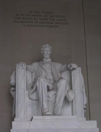 Lincoln Memorial: Lincoln gave me some advice.  Deal with it.