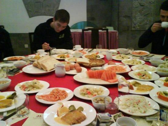 ฮาร์บิน, จีน: Erstes Essen, abends in Harbin