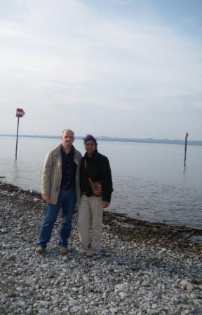 เบรเกนซ์, ออสเตรีย: Katty y Martin a orillas del Lago